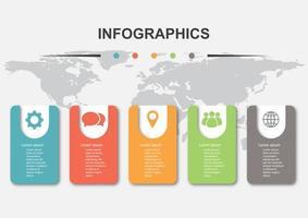 Infografik Designvorlage mit 5 Elementen vektor