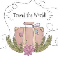 Koffer zwischen Niederlassungen zur Sommerzeit