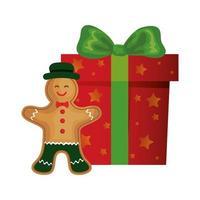 presentask jul med ingefära kaka vektor