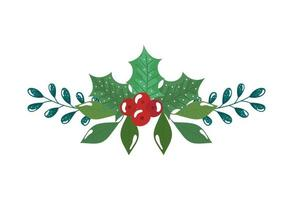 grenar med blad och frön isolerad ikon