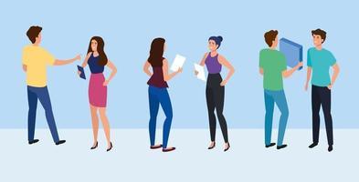 möte med affärsmän avatar karaktär