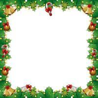 Rahmen der Blätter dekorativ mit Lichtern Weihnachten und Dekorationen vektor