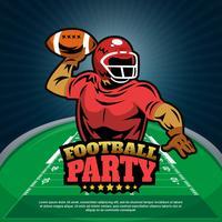 Fußball-Partei-Vektor-Illustrations-Plakat-Design