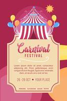 Karnevalaffischvektor