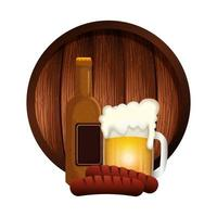 oktoberfest bier und wurst vektor design