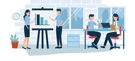 Geschäftsanalyse Statistik Vektor-Design vektor
