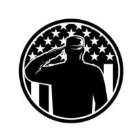 amerikanischer Veteranensoldat oder Militärsoldat vektor