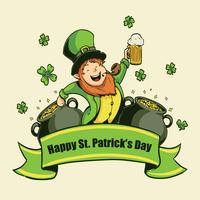 Illustration St. Patricks Tages vektor