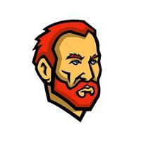 Vincent Van Gogh niederländischer Maler Maskottchen vektor