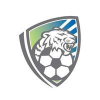 Tiger Fußballschild vektor