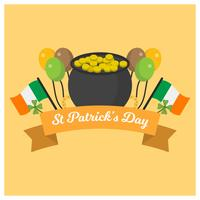 Flache St Patrick Tagesvektor-Illustration