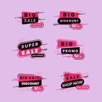 leistungsstarkes Sale Shop Label Set vektor