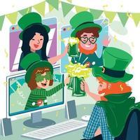 Saint Patrick's Day Party Versammlung mit Protokollkonzept vektor
