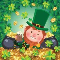 Saint Patrick's Day Cartoon Kobold Konzept vektor