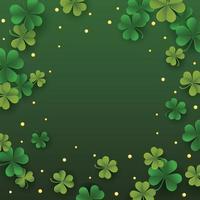 St. Patrick's Day Klee Hintergrund vektor