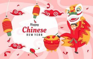 chinesischer Neujahrsfesthintergrund vektor