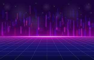 virtuelles Retro-Zukunftsumgebungskonzept vektor