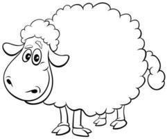 Schafzuchttier Charakter Malbuch Seite vektor