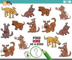 ett unikt spel för barn med hundar och valpar vektor
