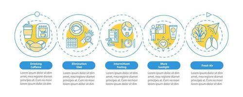 Vektor-Infografik-Vorlage für Biohacking-Techniken