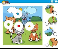Puzzleteile mit Comicfiguren vektor