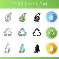 noll avfallsprodukter ikoner set vektor