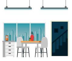 husplats matsal scen vektor