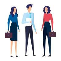 elegante Geschäftsleute Arbeiter Avatare Charaktere