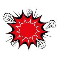 Explosion rote Farbe Pop-Art-Stil-Ikone vektor