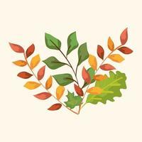grenar med höstlöv