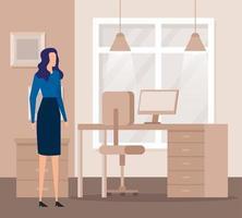elegant affärskvinna arbetare på kontoret