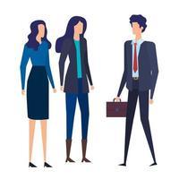 elegante Geschäftsleute Arbeiter Avatare Charaktere vektor