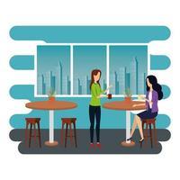 elegante Geschäftsfrauen im Büro