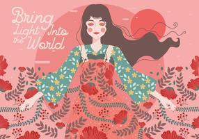 Internationaler Tag der Frauen-Illustrations-2 Vektor