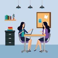 eleganta affärskvinnor på kontoret