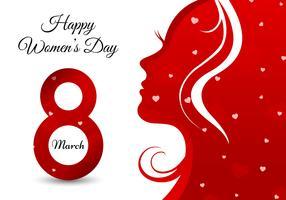 Lycklig kvinna dag hälsningskort