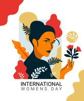 Vektorillustration der internationalen Frauen Tages vektor