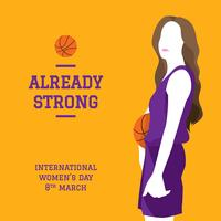 International Women Day Basket Vector