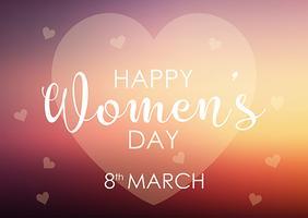 Kvinnors dag bakgrund med pastellhjärta design