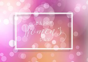 Kvinnorsdag bakgrund med bokeh lampor