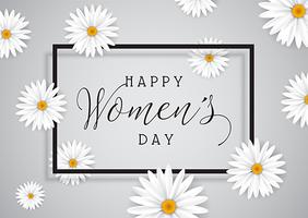 Kvinnorsdag bakgrund med tusenskönor