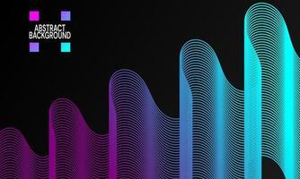 moderner abstrakter Hintergrund mit Wellenlinien in lila und blau vektor