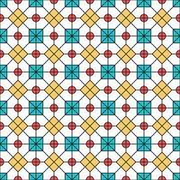 prydnad vektor sömlösa mönster. modern snygg konsistens. upprepande geometriskt kvadratiskt rutnät. enkel grafisk design. trendig hipster helig geometri