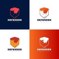 rhino sköld säkerhet logotyp mall vektor ikon illustration