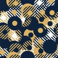 nahtloses Vektormuster des abstrakten Hintergrunds, das mit kreisförmigen geometrischen Formen oder Punkten mit Linie gemacht wird. bunte, verspielte, trendige und moderne Vektorgrafiken vektor