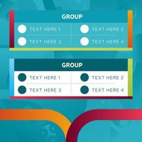 Europäische Fußball 2020 Turnier Endphase Gruppen Infografik Vorlage Vektor Lager Illustration. Europäisches Fußballturnier 2020 mit Hintergrund.