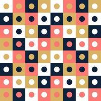 nahtloser Musterhintergrund des Vektors, Entwurf, modernes Quadrat mit Punkt oder Kreis innerhalb. Pixel nahtloses Muster mit bunten Elementen. vektor
