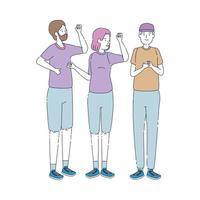 Gruppe von Menschen Avatare Charaktere