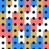nahtloser Musterhintergrund des Vektors, Entwurf, modernes Rechteck mit Punkt oder Kreis innerhalb. Pixel nahtloses Muster mit bunten Elementen. vektor