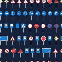 vägskylt mönster, tecknad stil. vägskylt mönster. tecknad illustration av vägmärkevektormönster för webben vektor